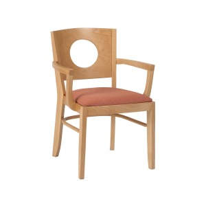 Jacob Solid Seat Wooden Armchair