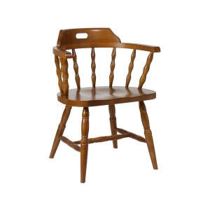 Captains Solid Seat Wooden Armchair