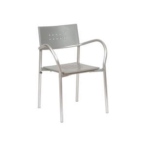 Antonia Grey Metal Armchair