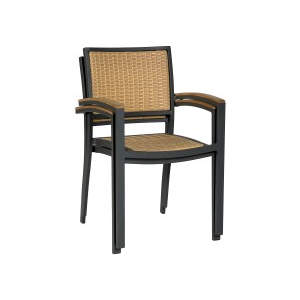 Villa Armchairs Stacked Metal Armchair