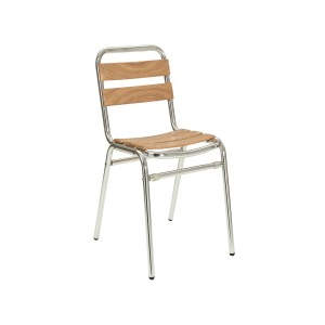 Catalina Side Chair Teak Stacker