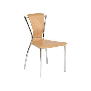 Nicole Natural Veneer Seat Side Chair