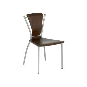 Nicole Wenge Veneer Seat Side Chair