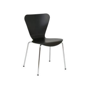 Venus Black Veneer Seat Side Chair
