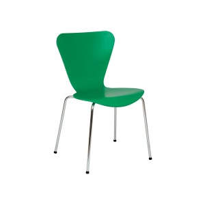 Venus Green Veneer Seat Side Chair