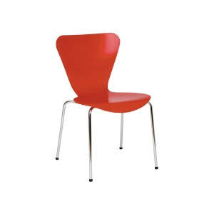 Venus Red Veneer Seat Side Chair