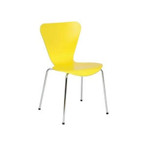 Venus Yellow Veneer Seat Side Chair