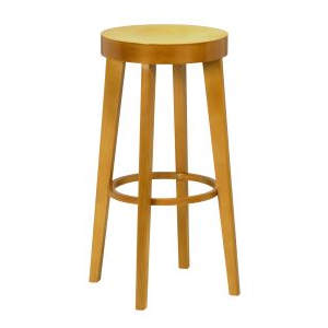 Brooklyn Veneer Wooden Seat Highstool