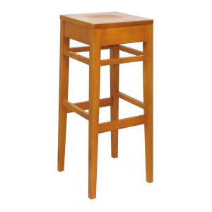 Clarke Solid Seat Wooden Highstool