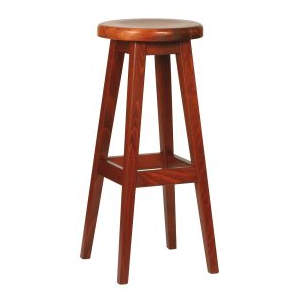 Galway Solid Seat Wooden Highstool